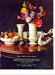 Lenox china and crystal.ad 1984