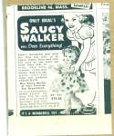 Click here to enlarge image and see more about item Z2535: 1952 IDEAL Saucy Walker DOLL AD