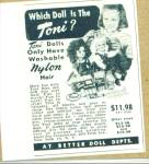 Click here to enlarge image and see more about item Z2549: 1951 IDEAL Toni Doll AD
