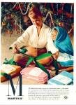 1959 Martex towels AD Lady / Child in Towel