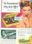 Click here to enlarge image and see more about item Z2847: Whitmans chocolates = ESTHER WILLIAMS  ad