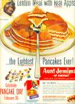 Click here to enlarge image and see more about item Z3646: Aunt Jemimas pancakes ad 1952