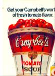 Campbell's tomato soup ads 1967