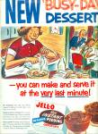 Click here to enlarge image and see more about item Z3681: 1954 Jello-New instant pudding AD ART