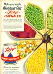 Click here to enlarge image and see more about item Z3685: 1951 LIBBY'S VEGETABLES AD Blossom Server
