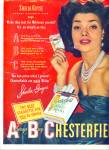 Click here to enlarge image and see more about item Z3696: Chesterfield cigarettes - SHEILA GUYSE  ad