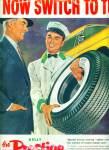 Kelly  prestige tubeless tires ad 1955