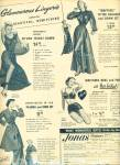 Click here to enlarge image and see more about item Z3766: Jonas shoppes.  Glamorous lingerie ad 1951