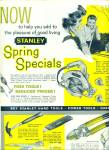 Stanley Hardware products ad 1961