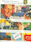 Click here to enlarge image and see more about item Z3813: Atlas tires,batteries and accessories ad 1951