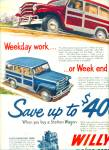 Willys Station wagon automobile ad 1951