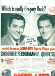 Auto lite spark plugs - GREGORY PECK  ad 1951
