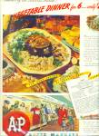 Click here to enlarge image and see more about item Z3865: A & P super markets ad 1945