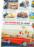 1960 RED Rambler Car PROMO AD