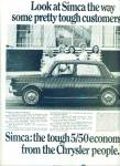 Click here to enlarge image and see more about item Z3972: Simca automobile  ad 1967