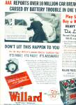 1967 WILLARD Car Battery AD Men Pushing Old C