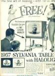 Click here to enlarge image and see more about item Z4036: Sylvania television ad 1957