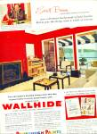 Click here to enlarge image and see more about item Z4086: Pittsburgh Paints ad 1957 WALL HIDE