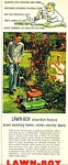 Click here to enlarge image and see more about item Z4172a: Lawn boy power mower ad 1956