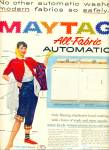 Maytag all fabrtic automatic washer ad 1956
