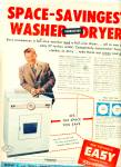 Easy combination washer-dryer ad 1956 A.GODFR