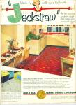 Click here to enlarge image and see more about item Z4194: Gold seal Nairn inlaid linoleum ad 1952