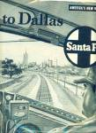 Click here to enlarge image and see more about item Z4324: 1953 Santa Fe Railroad Trails AD 2pg