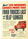 Ford Trucks last longer ad 1947