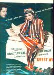 1945 Movie AD  GUEST WIFE  CLAUDETTE COLBERT