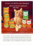 Click here to enlarge image and see more about item Z4449: Friskies cat food ad 1965