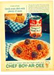 Click here to enlarge image and see more about item Z4476: Chef Boy-Ar-Dee ad 1961