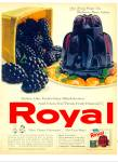 Royal blackberry flavor gelatin ad 1961