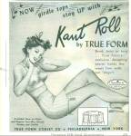 Click here to enlarge image and see more about item Z5065: 1946 Kant Roll True Form BRA PIN UP ART AD
