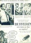 Click here to enlarge image and see more about item Z5070: Bufferin analgesic ad 1957