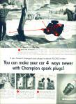 1957 Champion spark plugs AD On the Range