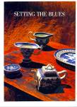 Setting the Blues dinnerware ad 1977