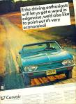 Click here to enlarge image and see more about item Z5151: Chevrolet Corvair  1967 ad