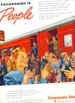Click here to enlarge image and see more about item Z5281: 1945 Pennsylvania Railroad ad ARTWORK