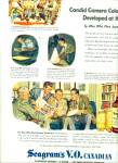 Click here to enlarge image and see more about item Z5282: Seagram's V.O.Canadian whiskey ad 1945