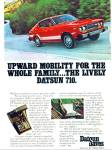 Datsun 710 automobile ad 1976
