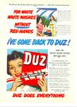 Click here to enlarge image and see more about item Z5658: Duz giant ecconomy size soap ad 1951