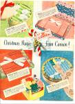 Cannon towels ad 1951 CHRISTMAS MAGIC