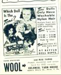 Click here to enlarge image and see more about item Z5700: 1951 IDEAL TONI DOLL DOLLS AD Nylon Hair