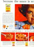 Click here to enlarge image and see more about item Z5776: Franco-American spaghetti ad 1961
