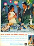 1963 Bethlehem Steel ad OUTDOOR PARTY Couple
