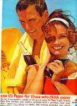 1963 Pepsi Cola AD COUPLE  BEACH Think YOUNG