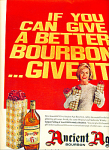 Click here to enlarge image and see more about item Z5890: Ancient Age bourbon kentucky - ad 1963