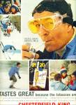 1963 CHESTERFIELD CIGARETTES AD SNOW SKIING