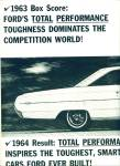 Click to view larger image of 1963 Ford 2PG COBRA Fairlane RACING CAR AD (Image2)