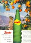 1963 Squirt fine dry flavor SODA AD Bottle
